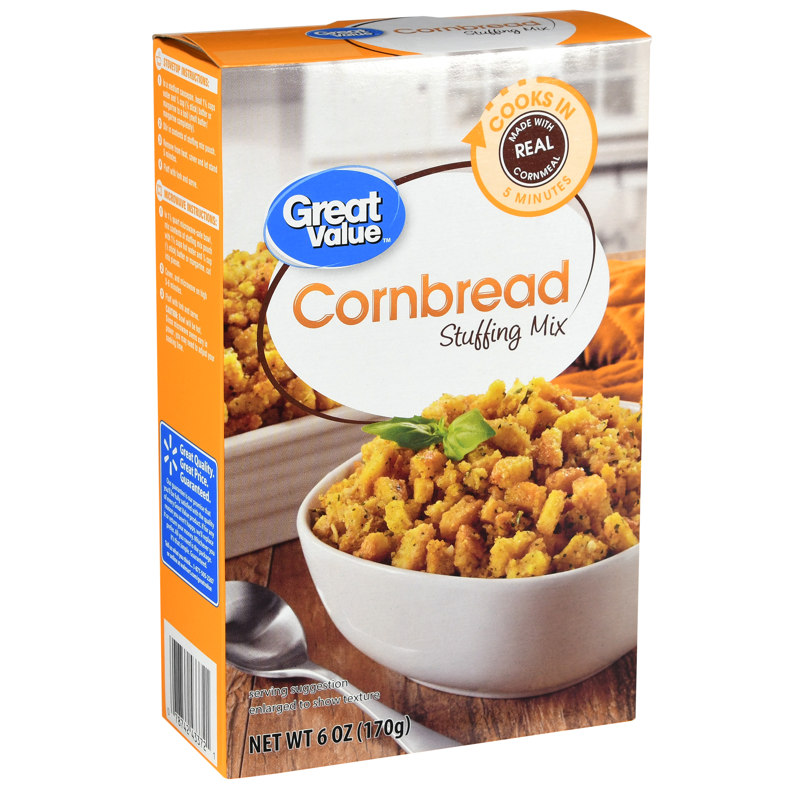 Great Value Cornbread Stuffing Mix, 6 oz