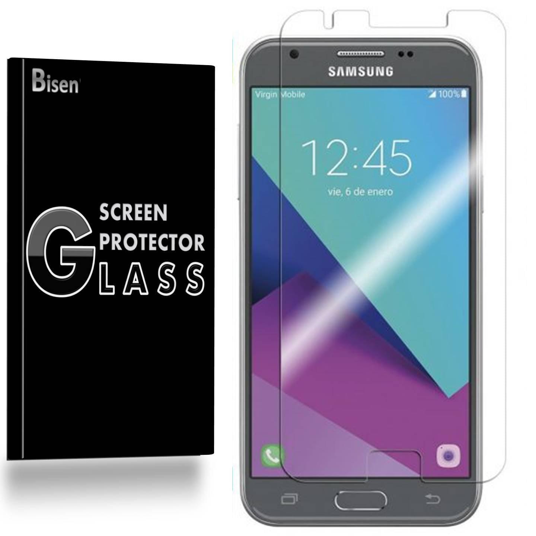 Samsung Galaxy J3 Emerge / Samsung Galaxy J3 (2017) [BISEN] 9H Tempered Glass Screen Protector, Anti-Scratch, Anti-Shock, Shatterproof, Bubble Free
