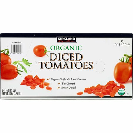 Kirkland Signature Organic Diced Tomatoes, 14.5 oz, 8-count