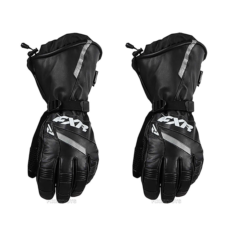 FXR Leather Gauntlet Glove Authentic Thinsulate Polar Fle...