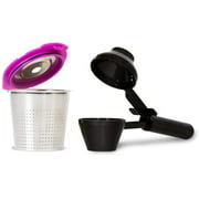 Cafe Flow Stainless Steel Reusable Coffee Pod  by Perfect Pod + EZ-Scoop Measuring Coffee Scooper