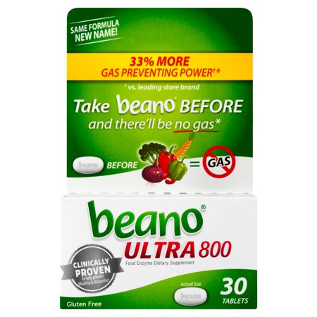 beano Ultra 800 Gas Prevention, Bloating Relief, 30