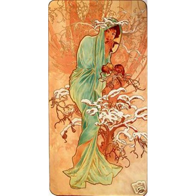 Hot Stuff Enterprise 3755-12x18-AD Winter Alphonse Mucha Poster