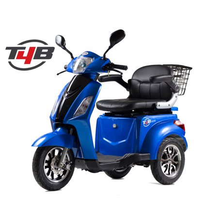 T4B LU-500W Mobility Electric Recreational Outdoors Scooter 48V20AH with Three Speeds, 14/22/32kmph - Blue - image 14 de 14