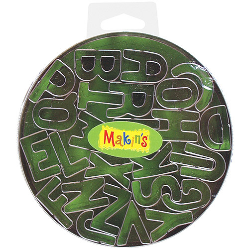 Makin's Clay Cutter Set, Alphabet, 26/pkg