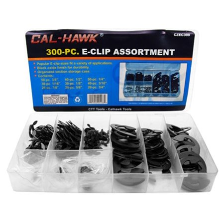 300pc E-Clip Retaining Ring Assortment - Automotive, Lawn/Garden Equip., Appliances, Essential shop hardware assortment for automotive, small.., By Shop Assortment