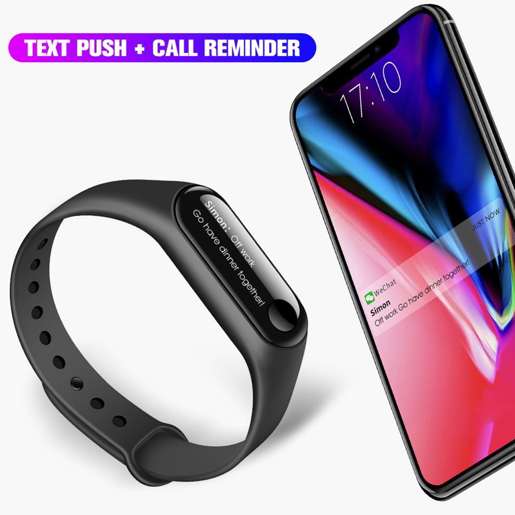 Unisex OLED Activity Wristband Tracker Waterproof Smart Bracelet Heart Rate Blood Pressure Electronic Gift Customization