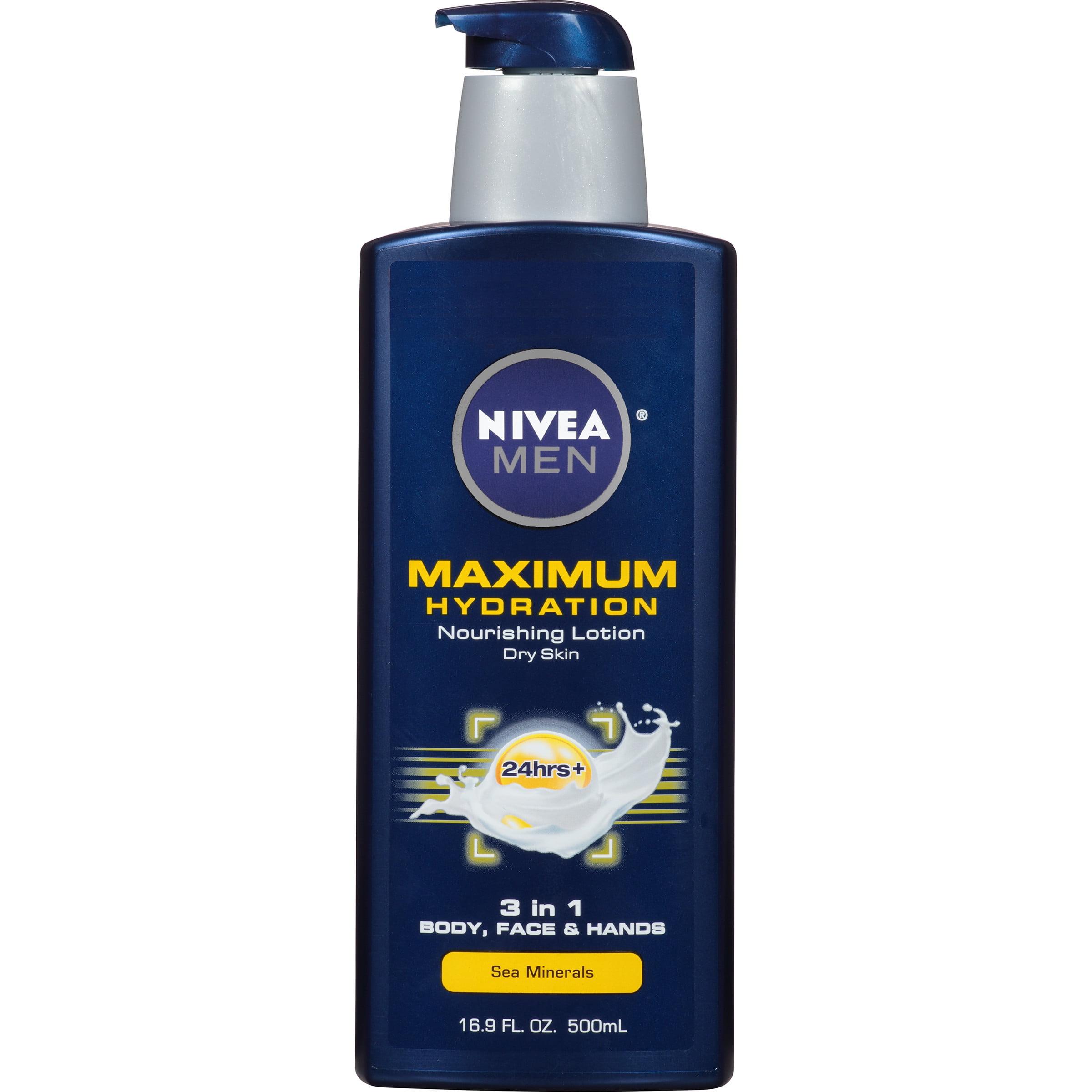 NIVEA Men Maximum Hydration 3 in 1 Nourishing Lotion 16.9 fl. oz.