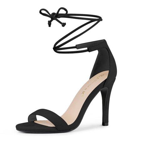Allegra K Bride à la cheville des femmes des sandales habillées talon aiguille Noir 38.5 EU - image 7 de 7
