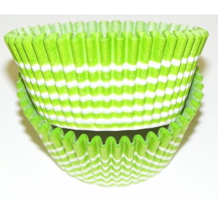 Lime and White Circle Cupcake Liners - Baking Cups -50pack
