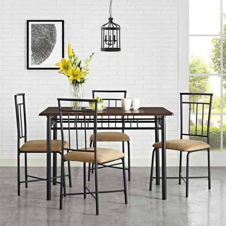 (Mainstays 5-piece Dining Set, Multiple Colors)
