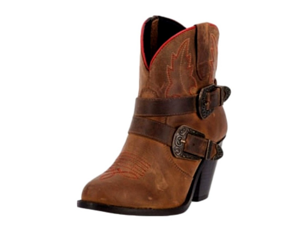 Dingo Western Boots Womens 6 Inch Cowboy Straps Taupe DI 765 by Dingo
