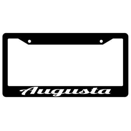 Augusta Black Plastic License Plate Frame City State](Party City Augusta Ga)