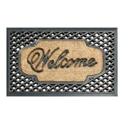 """First Impression Rubber/ Coir Brush 23"""" X 38"""" Welcome Doormat"""
