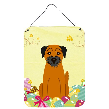 Easter Eggs Border Terrier Wall or Door Hanging Prints Easter Eggs Photo Border