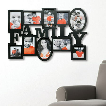 kiera grace family heritage 175 x 25 black wall collage picture frame