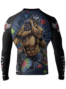 f19ea1fd89 Free shipping. Product Image Raven Fightwear Men's Luchador El Cuervo MMA  BJJ Rash Guard Black Small