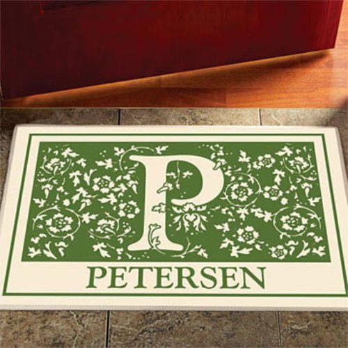 Personalized Initial Doormat