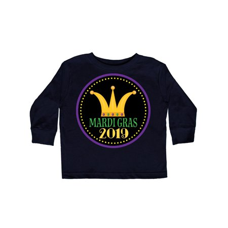 2019 Mardi Gras King Or Queen Party Crown Toddler Long Sleeve - Mardi Gras King And Queen Costumes