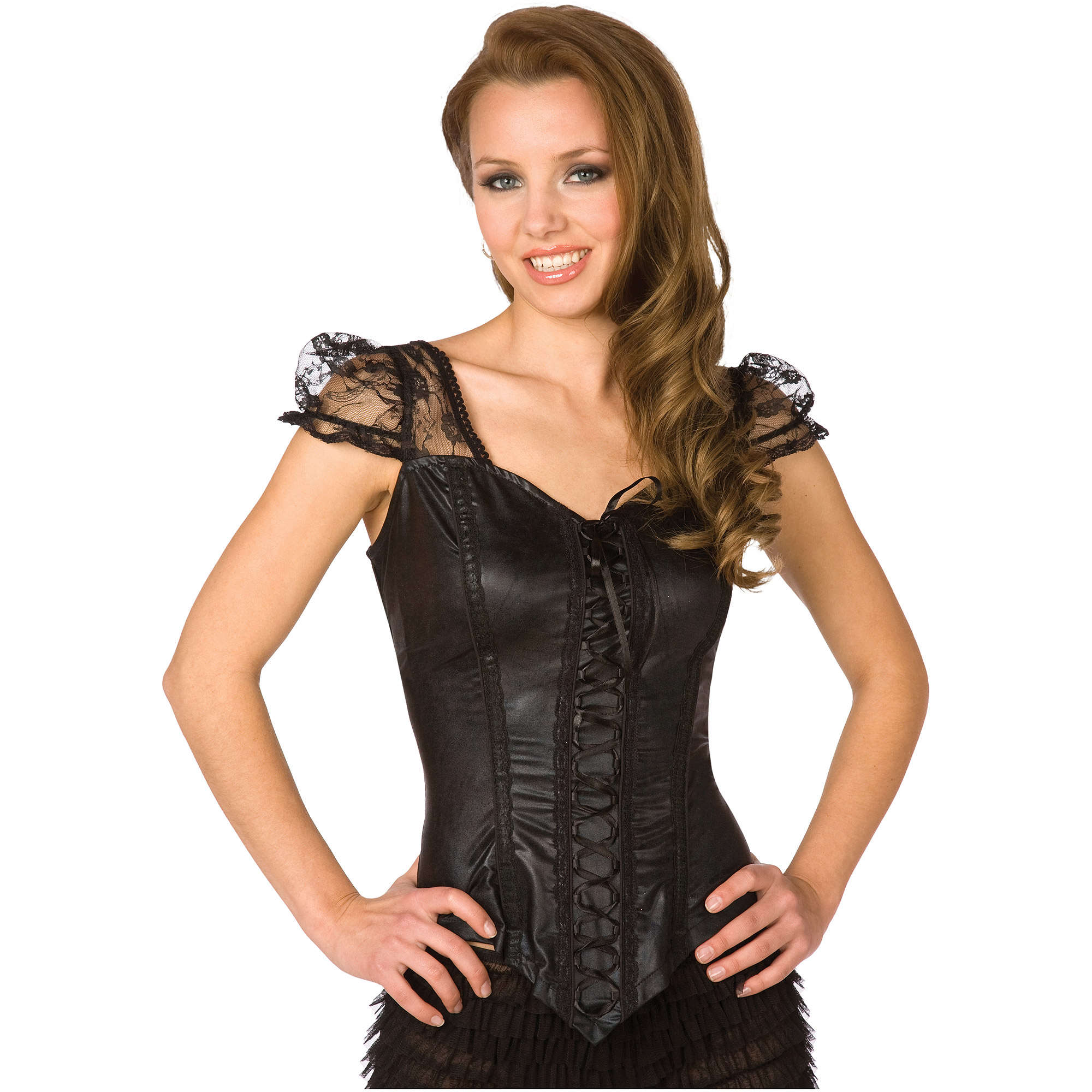 Black Flirty Top Adult Halloween Dress Up / Role Play Costume