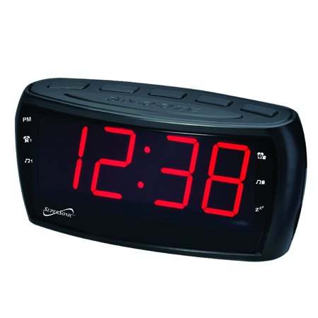 Supersonic AM/FM Alarm Clock Radio with Jumbo Digital Display ()