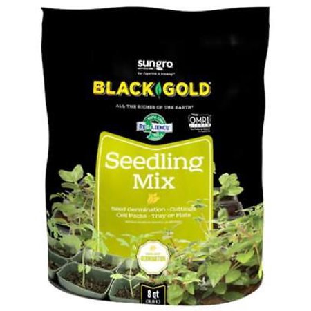 Black Gold Seedling - Black Gold 8 QT Seedling Mix This Blend Of Double Screened Canadian Sp 2PK