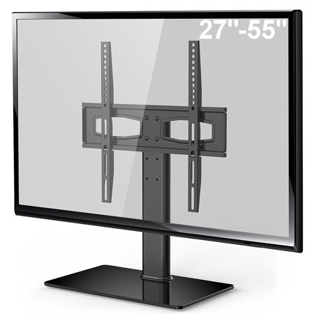 fitueyes universal tabletop tv stand base with mount for up to 55 inch flat screen tvs vizio. Black Bedroom Furniture Sets. Home Design Ideas