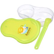 Simba Baby Food Storage Container w/ Feeding Spoon, Green