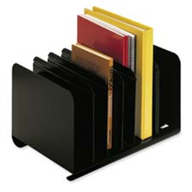 MMF Industries MMF26413BRBLA Adjustable Book Rack- 6 Compartments- 15in.x11in.x8-1.19in.- Black by MMF INDUSTRIES