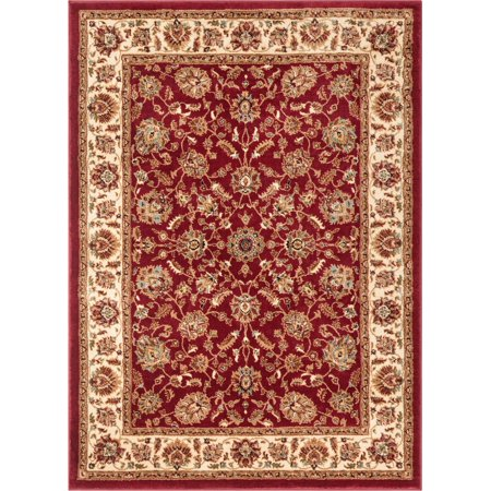 Well Woven Persian Oriental Red Ivory Blue Green Area -