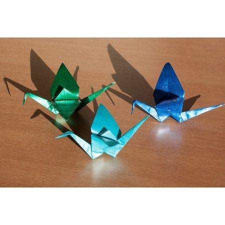 art of paper folding origami fold 3 dimensional poster print 24 x 36