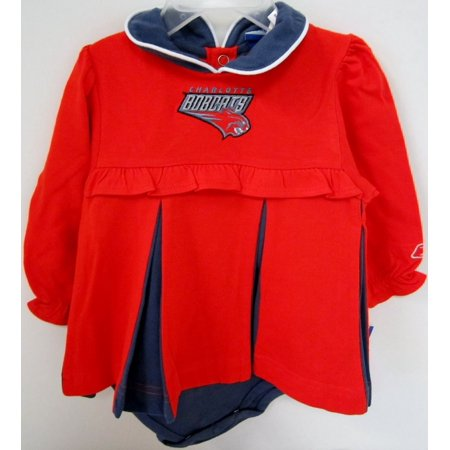 NBA Officially Licensed Charlotte Bobcats Girls Cheerleader Bodysuit Romper By Reebok (Size 12 Months) for $<!---->