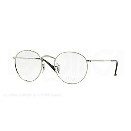 de47977db86 Ray-Ban Round Metal Eyeglasses RX3447V 2538 Matte Silver 50 21 145 -  Walmart.com