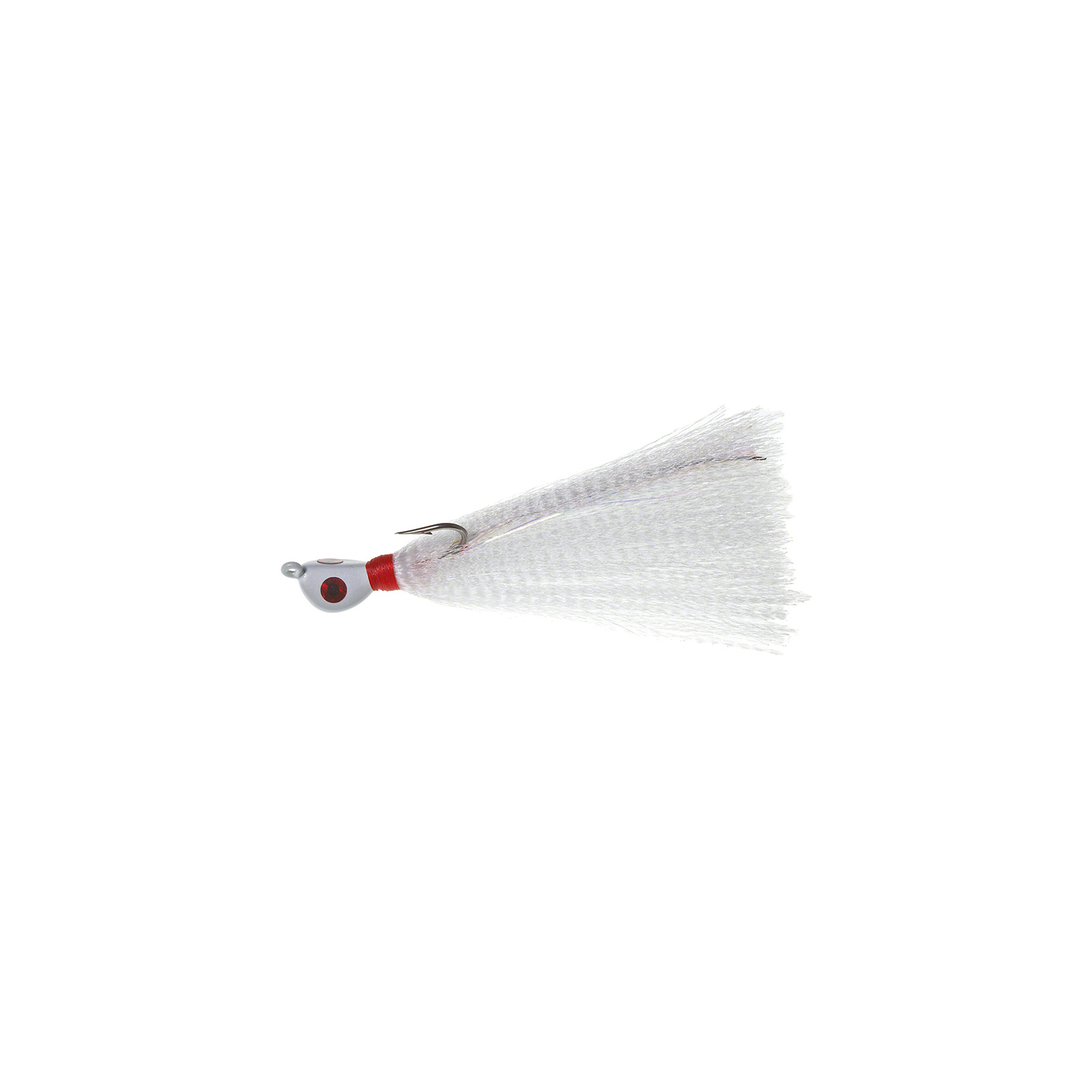 HookUp XT Bucktail Jig 2-1 2oz Wht Red Wht w #6 0 Duratin H 6 Pack, 148-03 by Hookup