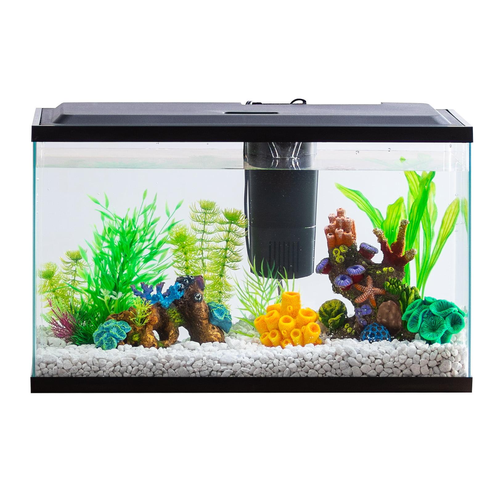 aqua culture 10-gallon aquarium starter kit with led lighting ...