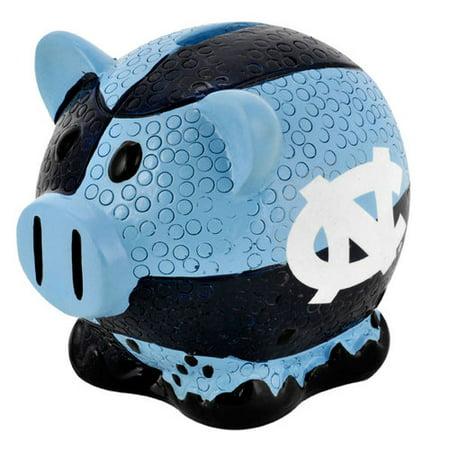 Forever Collectibles Large Thematic Piggy Bank - North Carolina North Carolina Tar Heels FBPIGCNCL