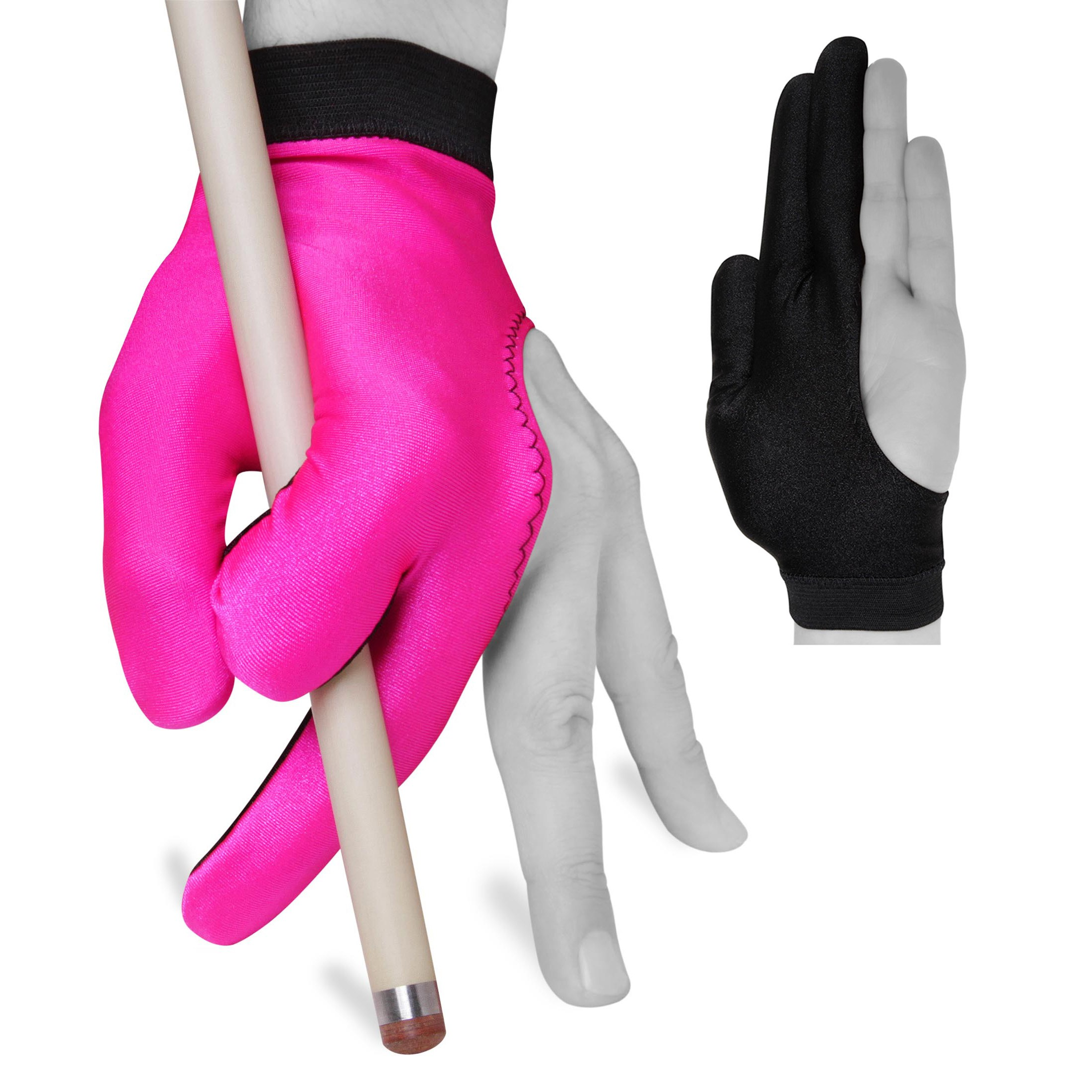 Red and Black for Left Hand Fortuna Billiard POOL CUE GLOVE