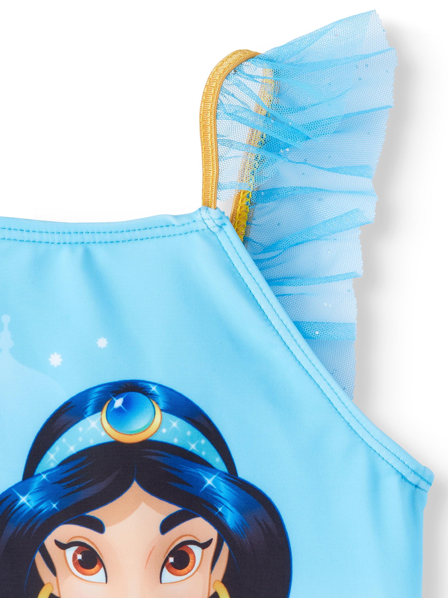 4c5c05c633 Disney Princess - Princess Jasmine Ruffled Tankini Swimsuit (Little Girls)  - Walmart.com