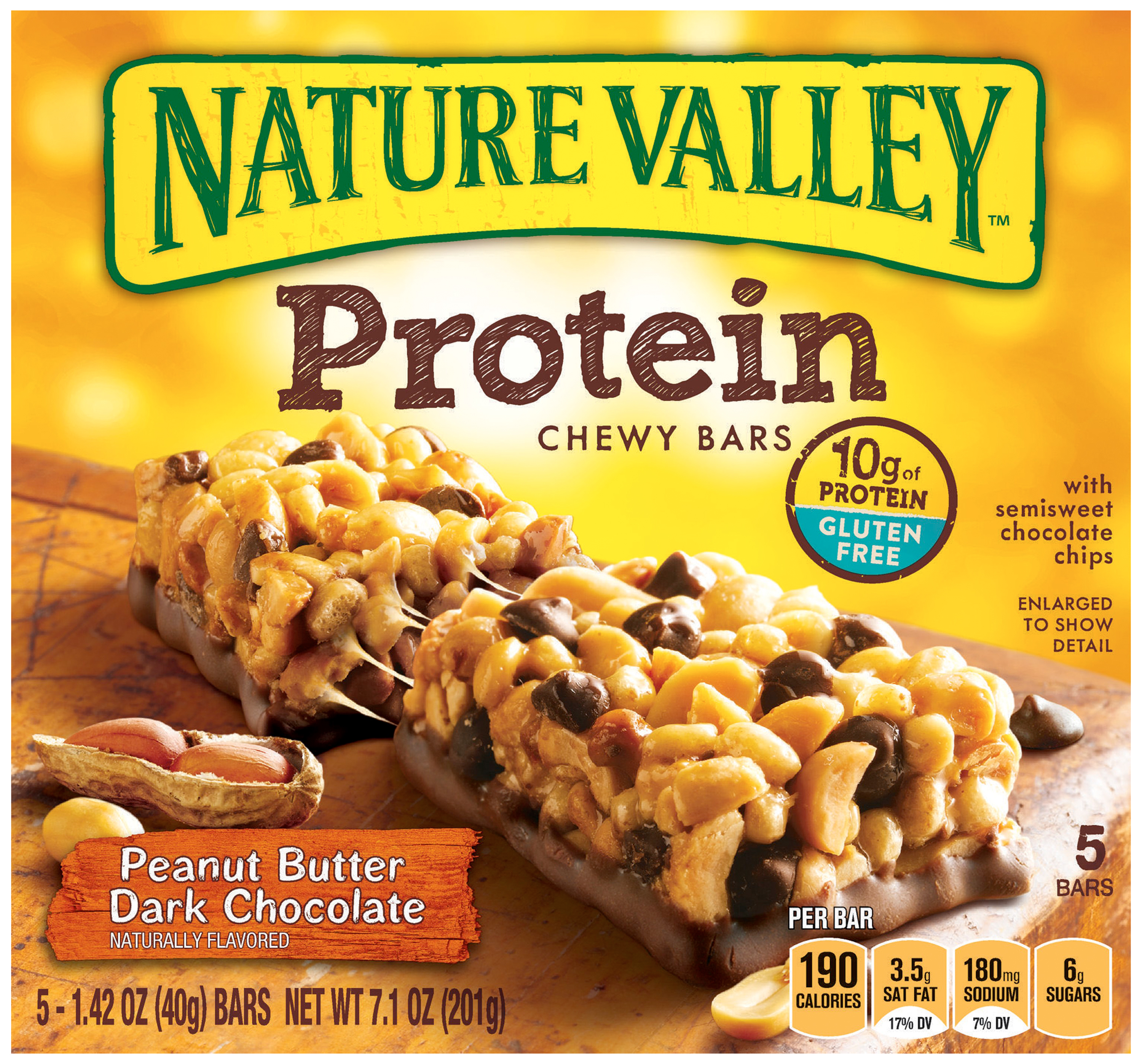 Nature Valley® Peanut Butter Dark Chocolate Protein Chewy Bars 5 ct Box