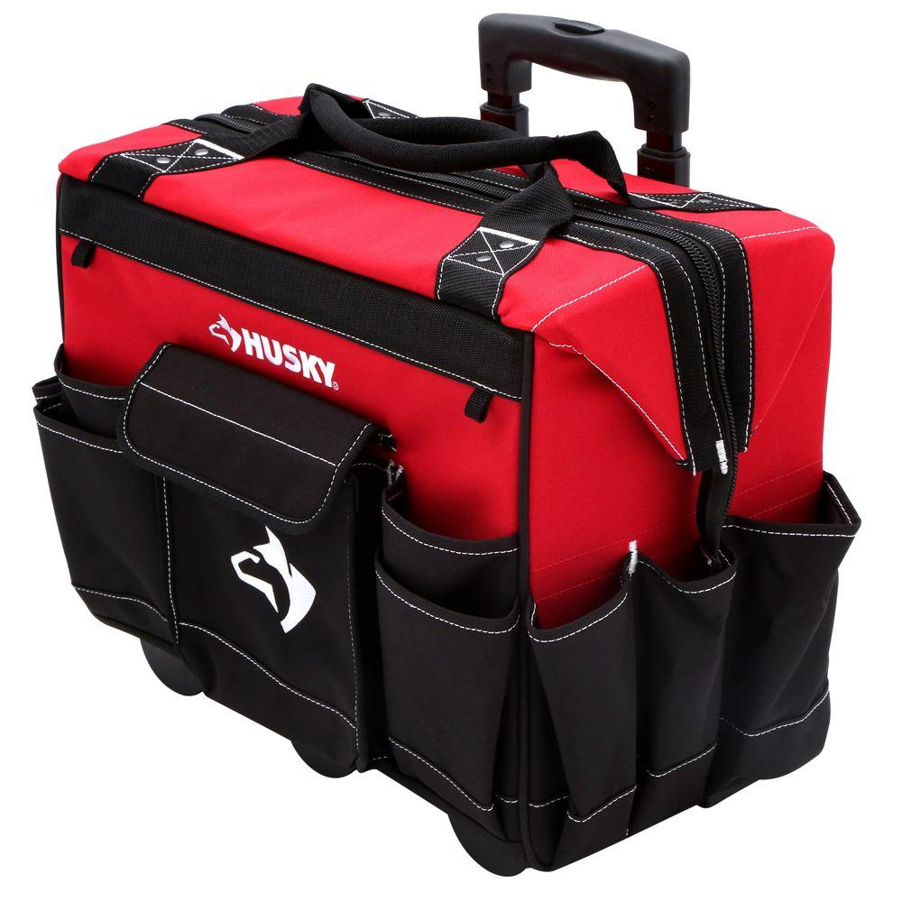 Husky Tote Pouch Bag 18 Inch Rolling Tool Box Portable Ch...