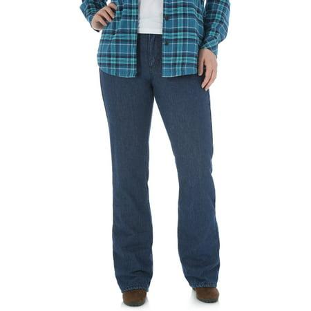 e9f604cc Women's Mid Rise Bootcut Fleece Lined Jeans 2pk Value Bundle ...