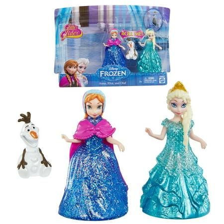 Disney Frozen Glitter Glider Anna, Elsa and Olaf Doll - Elsa And Anna Dolls Walmart