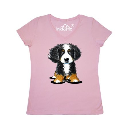 Bernese Mountain Dog Women's V-Neck T-Shirt - KiniArt