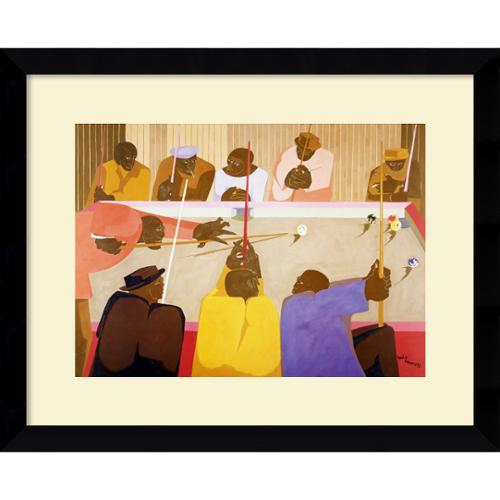 Amanti Art Jacob Lawrence 'The Pool Game' Framed Artwork Print by Overstock