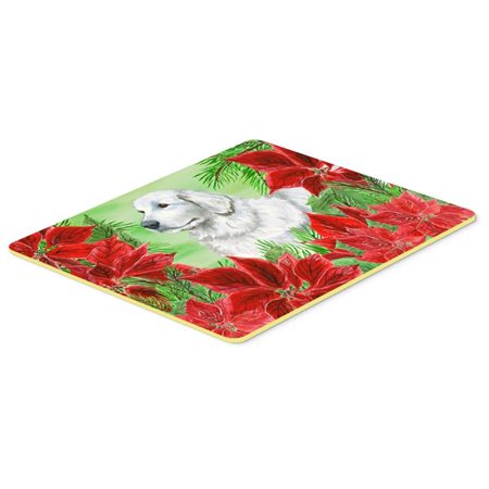 Carolines Treasures CK1323CMT Maremma Sheepdog Poinsettas Kitchen or Bath Mat - 20 x 30 in. - image 1 de 1