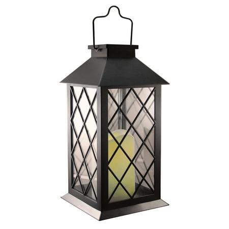 LumaBase Solar Lantern, Tudor, Black