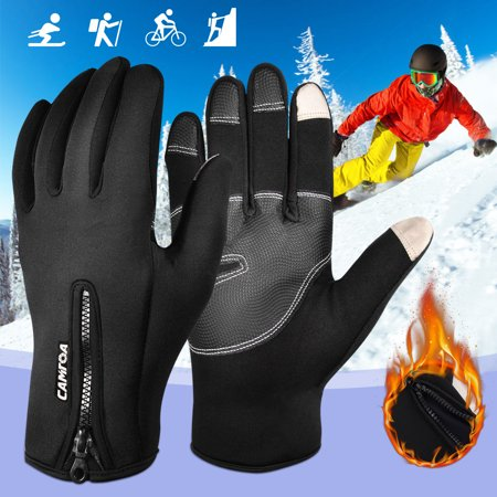 Unisex Winter Touch Screen Full Finger Gloves Soft Shell Winter Cold Weather Cycling Motorcycle Insulated Touchscreen Ski Freestyle (Cycling Soft Shell)