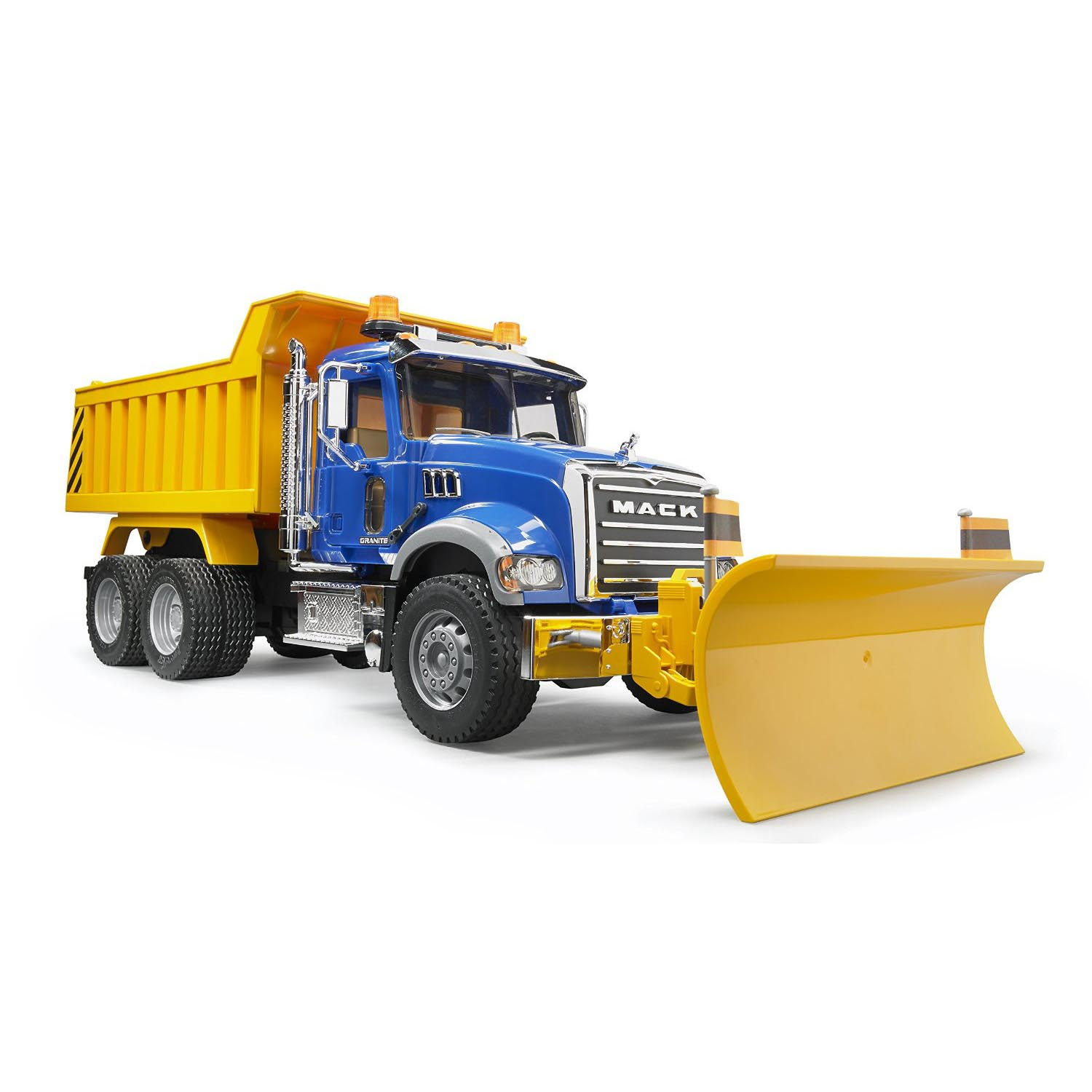Bruder Toys Mack Granite 1:16 Play Snow Plow Dump Truck with Front Blade | 02825 by Bruder Toys