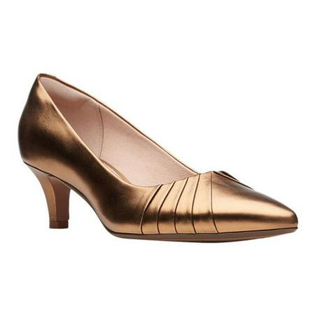 Women's Clarks Linvale Crown Pump Metallic Bridal Shoes