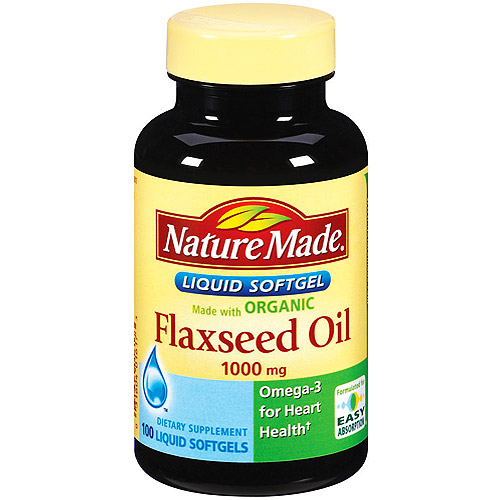 Nature Made Organic Flaxseed Oil 1000mg Dietary Supplement, 100ct